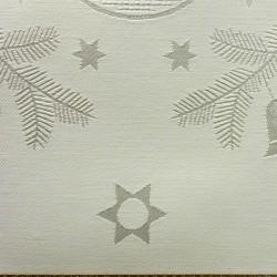 Jobelan damast 624/20 gebroken wit met goudkleurige lurex ruiten 170 cm