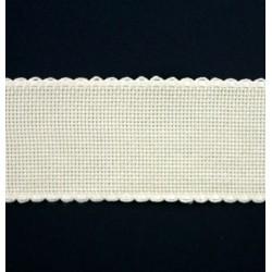 Aidaband 5 cm gebroken wit 10 meter