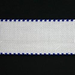 Aidband 5 cm wit rand marine 20 meter