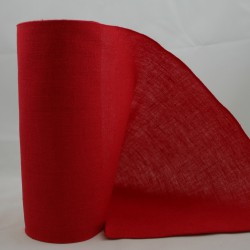 Linnenband 20 cm rood - 5 meter