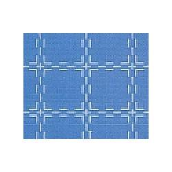 Beiersbont 5439 middelblauw/wit 160 cm