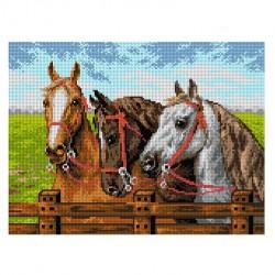 3 paarden 2133J 30x40 cm