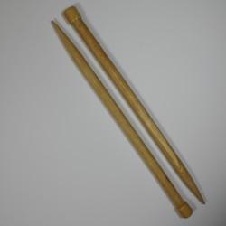 Breinaalden huismerk 40 cm hout  no.20