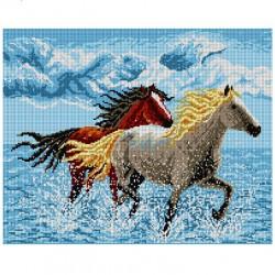 Paarden door het water 1388M