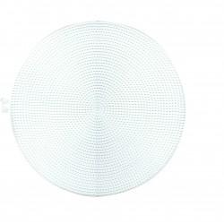 Plastic canvas naturel 30 cm rond