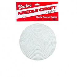 Plastic canvas naturel 11 cm rond