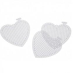 Plastic canvas hart ca.7,5 cm