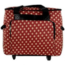 Mobiele koffer art.4680 polkadot dessin rood