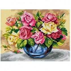 Kleurrijke rozen 2621J 30x40 cm