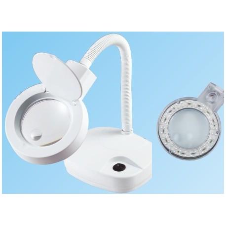 Elektr. loeplamp met buigarm en ledlamp art.8611-led