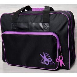 Vouwtas naaimachine art.4660 zwart/paars