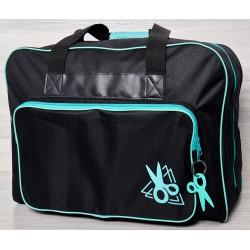 Vouwtas naaimachine art.4660 zwart/turquoise