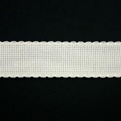 Aidaband 3 cm gebroken wit 20 meter