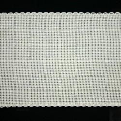 Aidaband 10 cm gebroken wit 20 meter